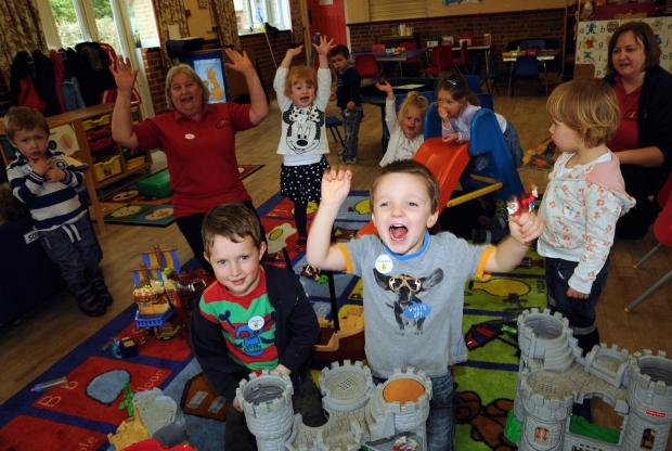 Children and staff from Woolton Hill pre-school are excited by the refurbishment news