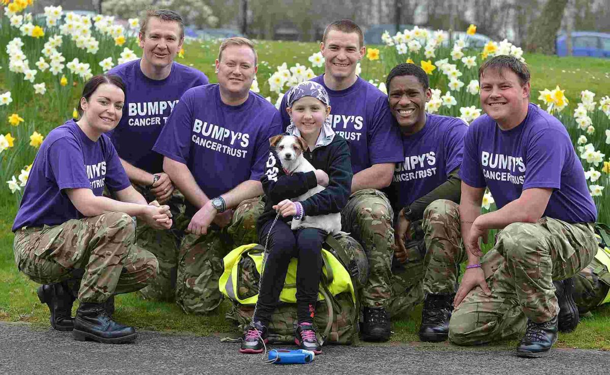 Military personnel run 676 mile relay for cancer charity