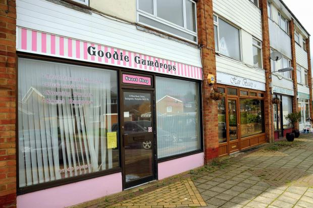 The vacant Goodie Gumdrops shop, in Meon Road