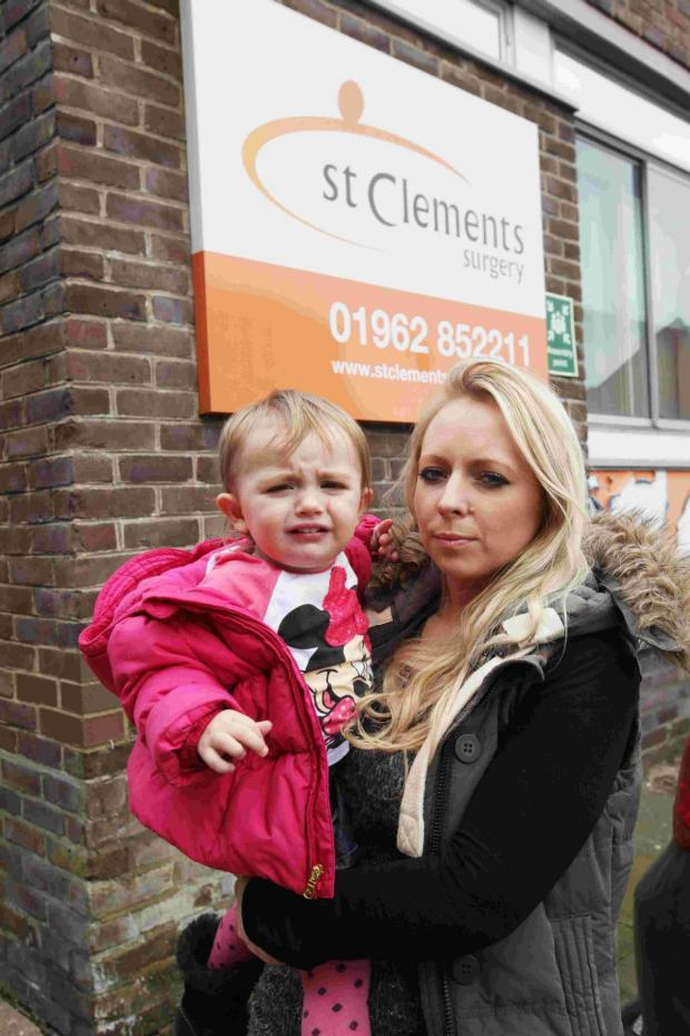 Basingstoke Gazette: Winchester mum and toddler thrown out of doctors' surgery because child cried with pain