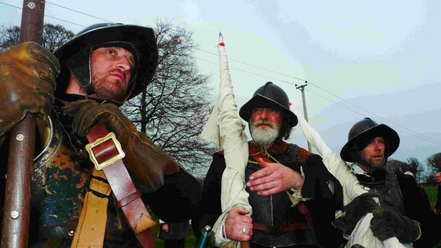 The Tillier's Regiment of the Sealed Knot completed a 26-mile march between Basing and Bishop's Sutton near Alresford
