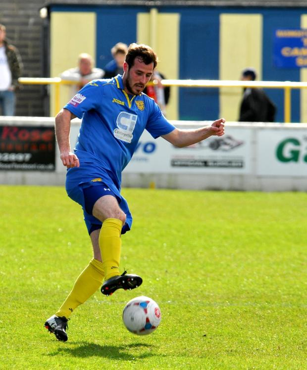 Basingstoke Gazette: Shaun McAuley pulled Town level at 1-1 - but parity only lasted for three minutes.