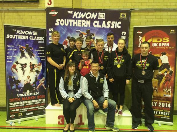 Nine Falcons brought home eight medals from the KWON Southern Classic
