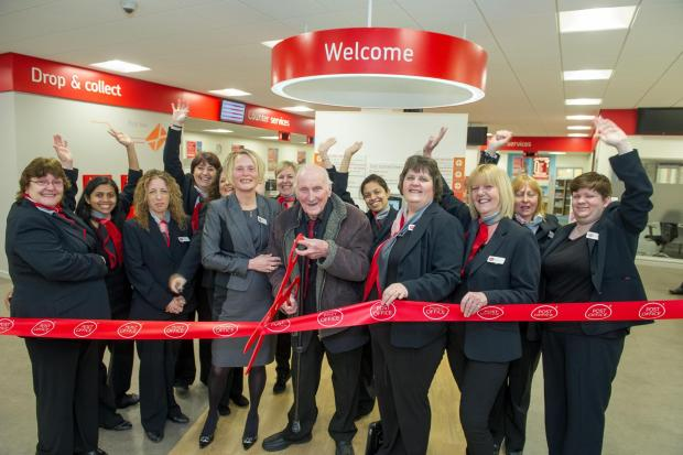 The new-look post office is officially opened