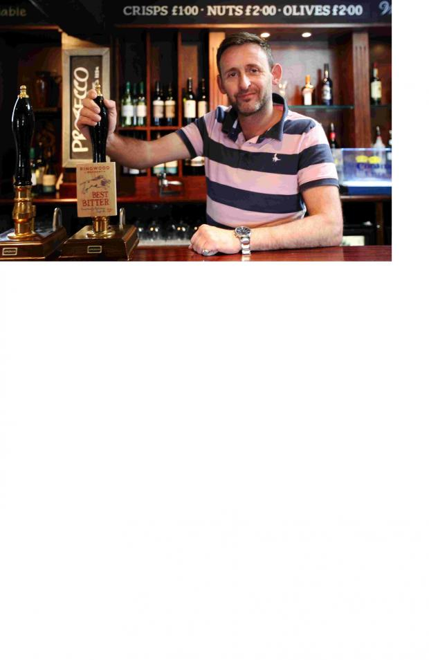 Basingstoke Gazette: Marcus Pingriff, new publican at the King's Arms in Lockerley