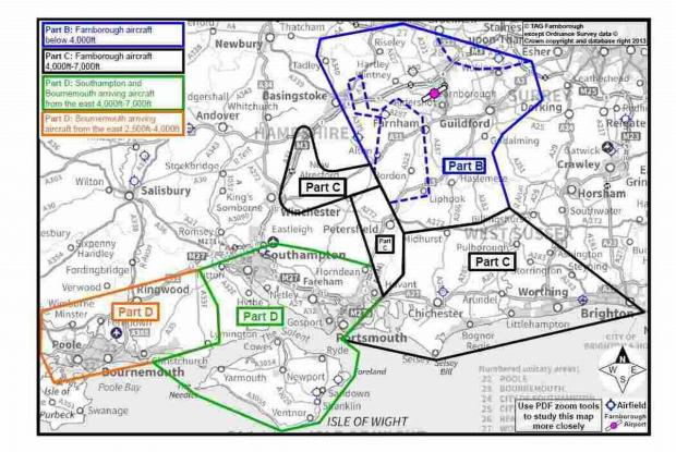 Basingstoke Gazette: This diagram shows the areas that will be affected by the plans