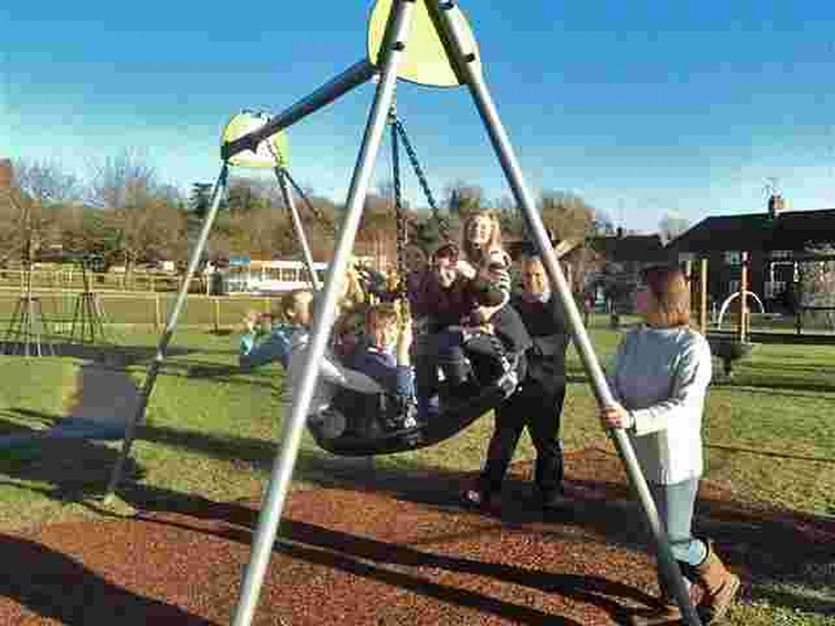 Since it was built in 1998 the play area on the village green in the middle of Woodman Close has been used by count
