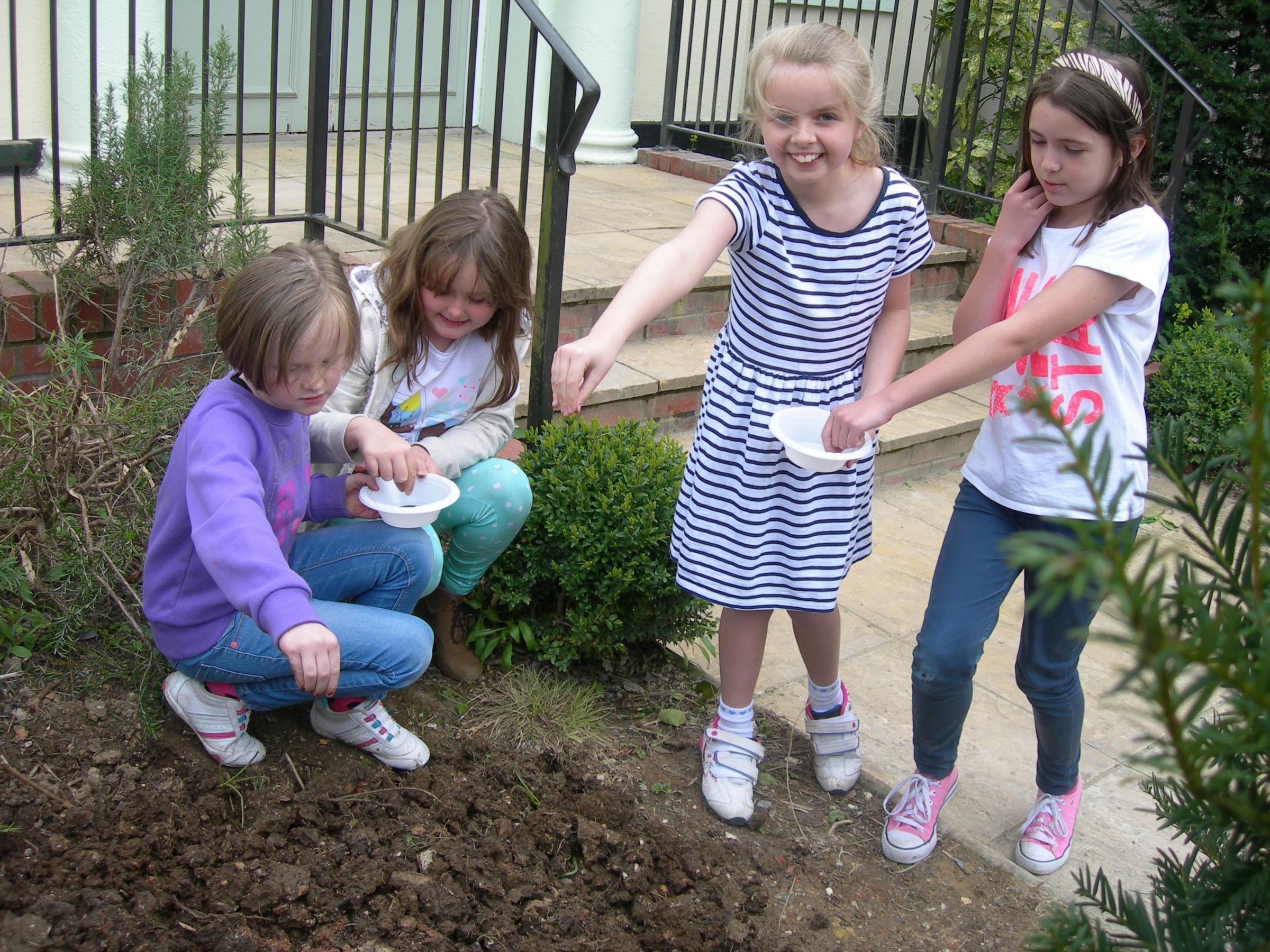 Andover United Reformed Church and 1st Andover Girls' Brigade plants poppies for peace and remembrance