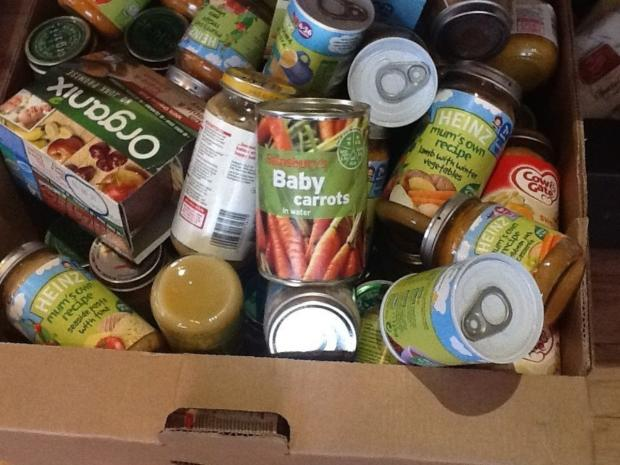 Food bank use up 60 per cent