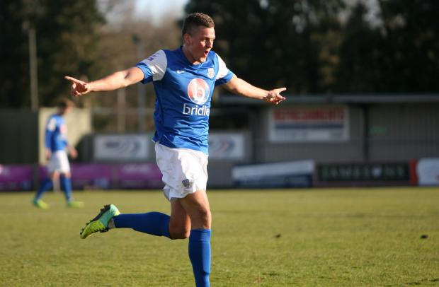 Basingstoke Gazette: Former Basingstoke Town striker Ben Wright has been in top form for Eastleigh in recent weeks.