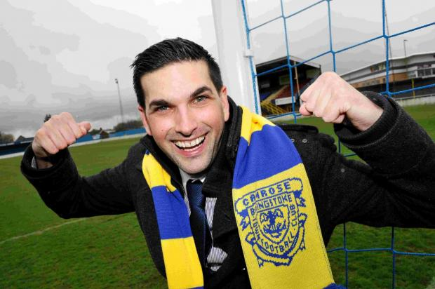 The new head of marketing at Basingstoke Town FC, Simon Hood