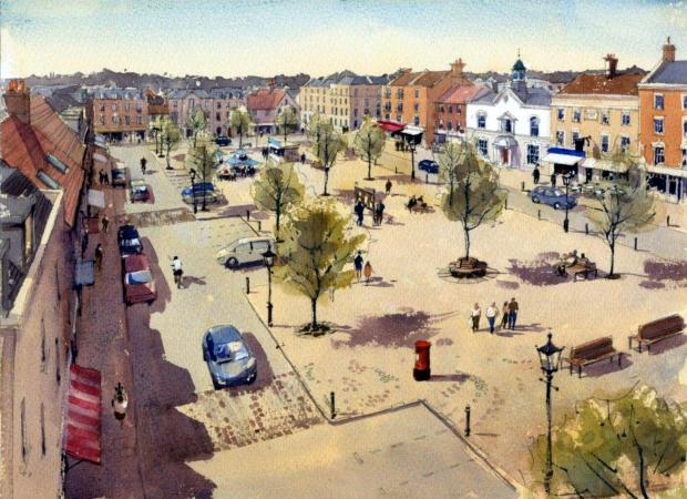 An artist's impression of how the Manydown site could look