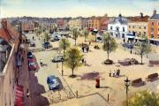 An artist's impression of how Manydown main square could look if the land is given over for housing