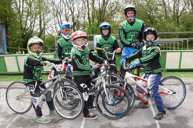 The six riders who will represent Andover in Rotterdam