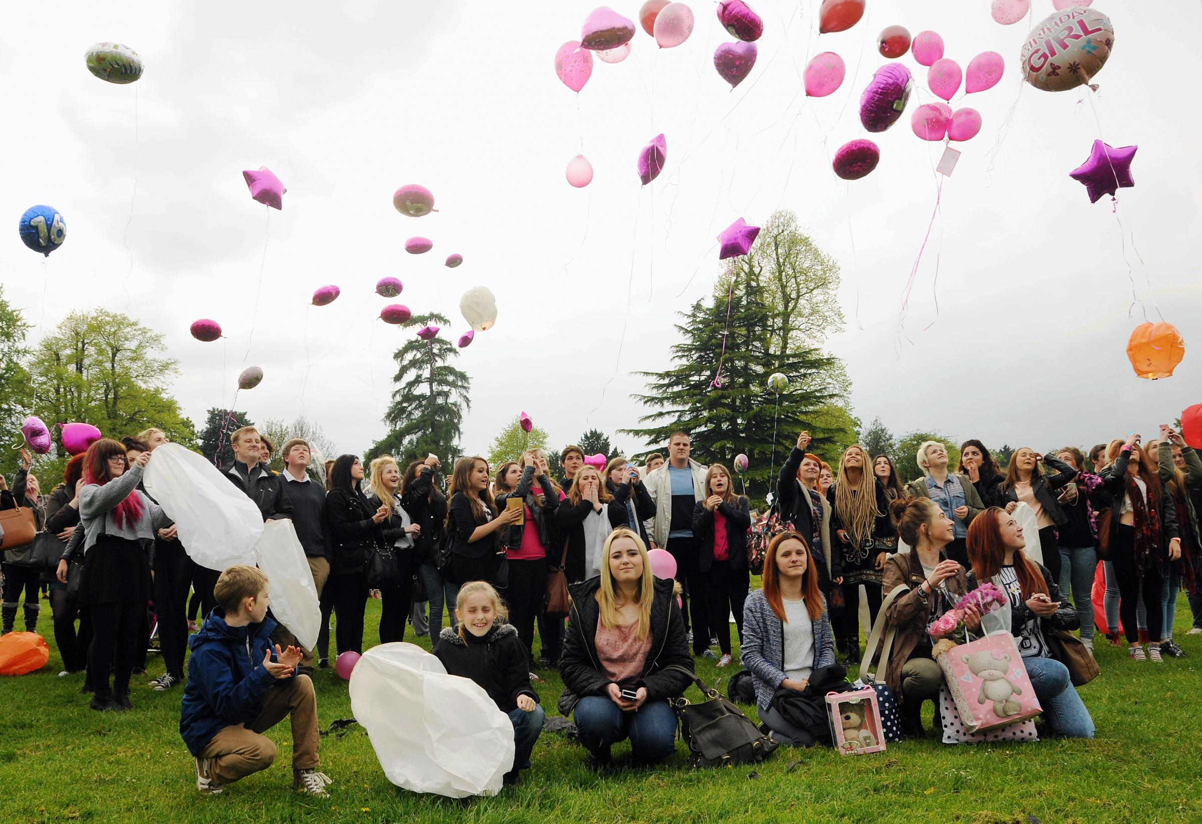 Balloon release tribute to mark birthday of Basingstoke schoolgirl Whitney Berridge
