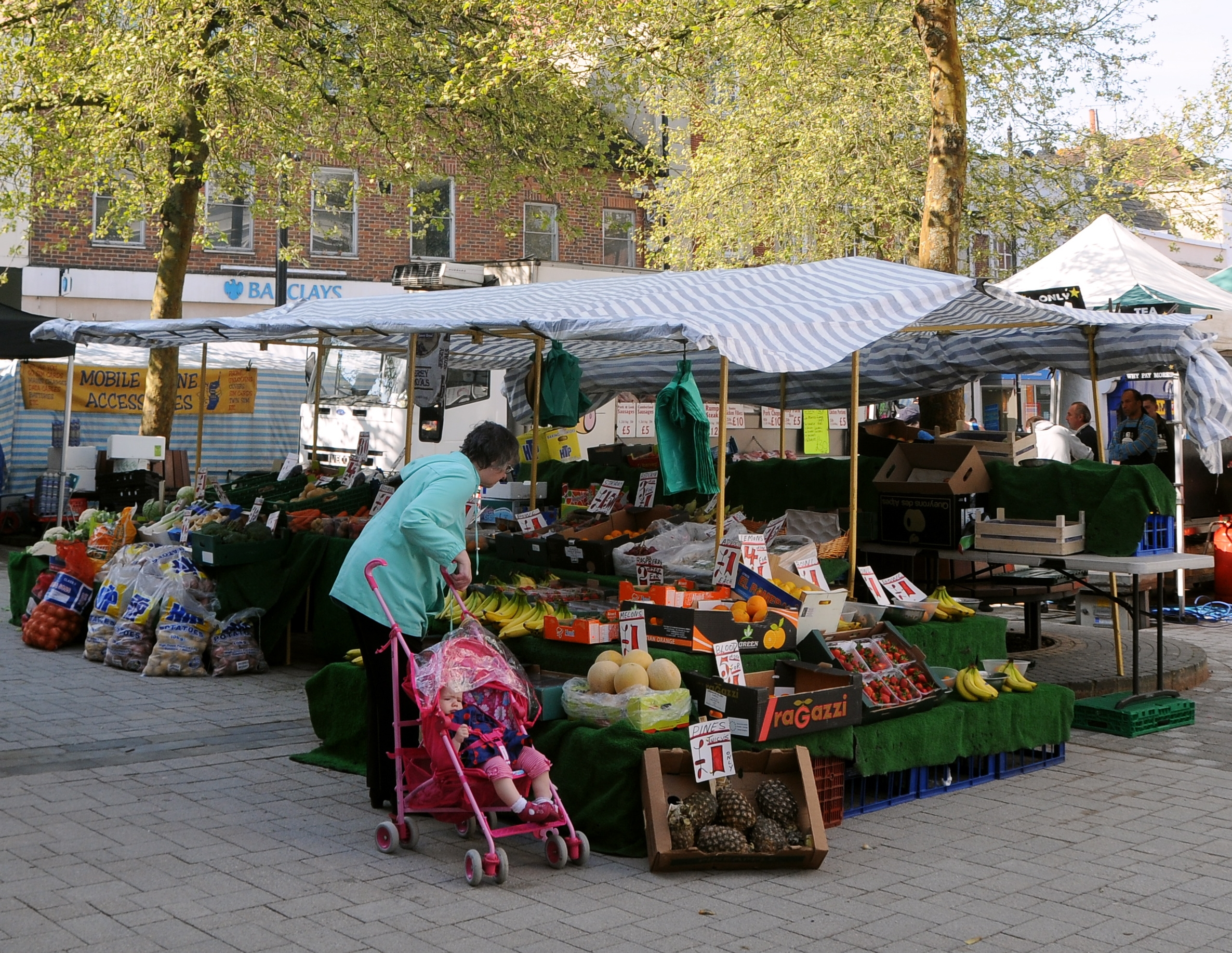 Basingstoke market has returned to its traditional place at the Top of the Town