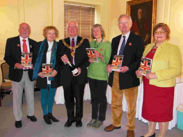 Mayor of Winchester, Cllr Ernie Jeffs, and Mayoress, Barbara Jeffs, attended the book launch last year.