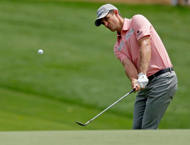 Justin Rose in action at the Wells Fargo Championship