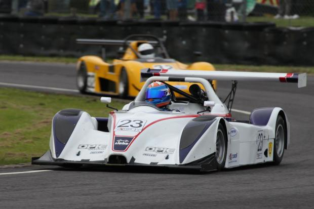 Simon Tilling in his new Liger took a win once again at Castle Combe