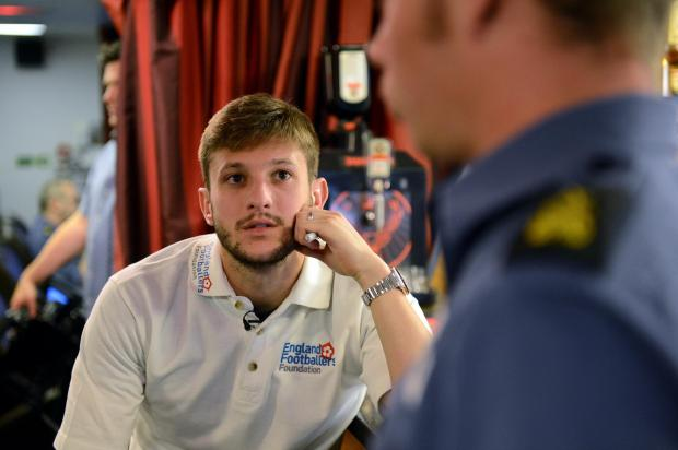 Basingstoke Gazette: Adam Lallana on board HMS Daring