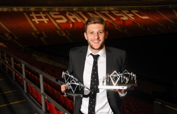 Basingstoke Gazette: Adam Lallana with his awards at the 2014 Saints Awards Dinner