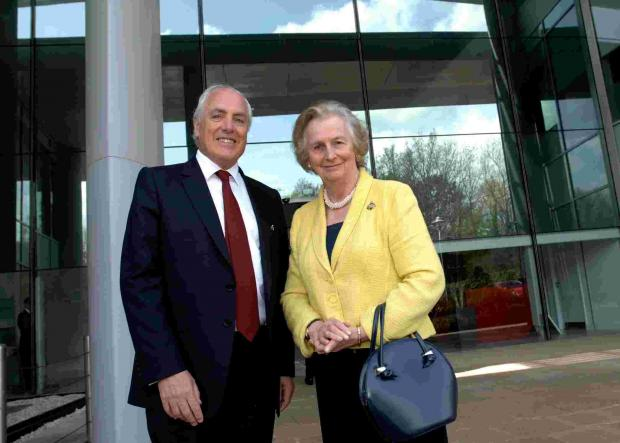 Basingstoke Gazette: Dame Mary Fagan with Cllr Roy Perry