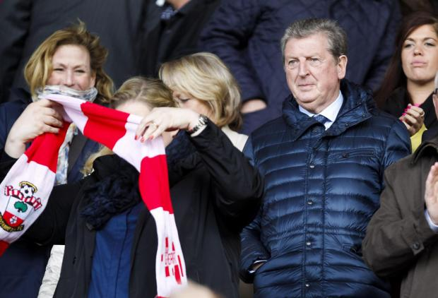 Roy Hodgson at St Mary's this afternoon
