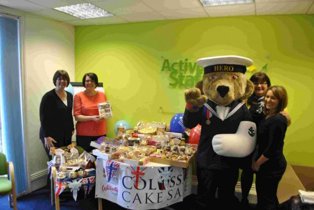 Active Staff boost Help for Heroes with cake sale