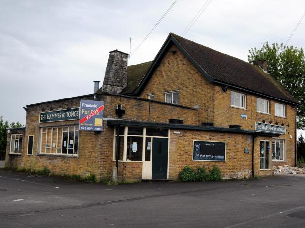 The Hammer and Tongs pub, in Old Worting Road