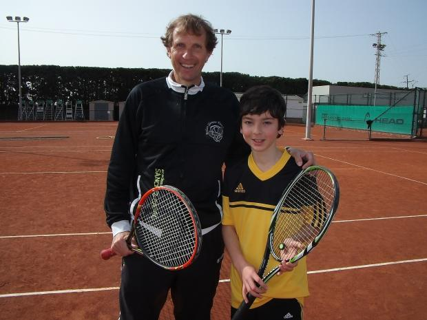 Ryan Golesworthy with Sergio Casal in Spain