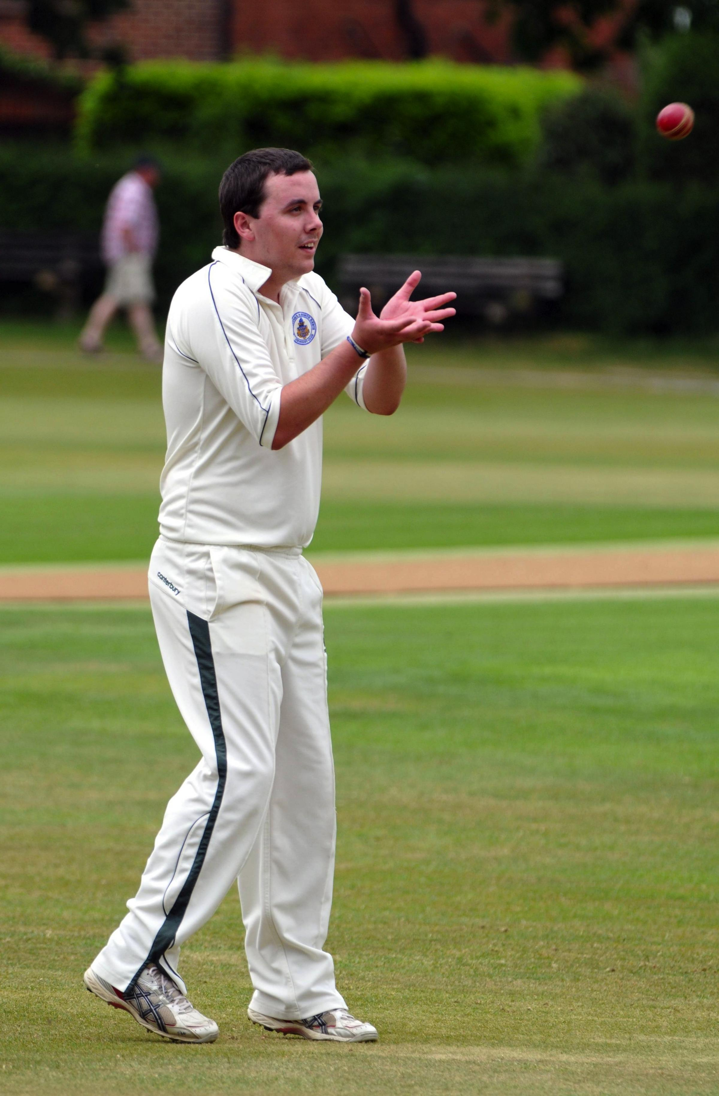 Martyn James took the opening wicket