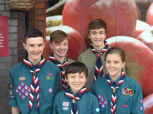 Winchester Scouts helped shoppers to pack their bags at Sainsbury's raising £1,300