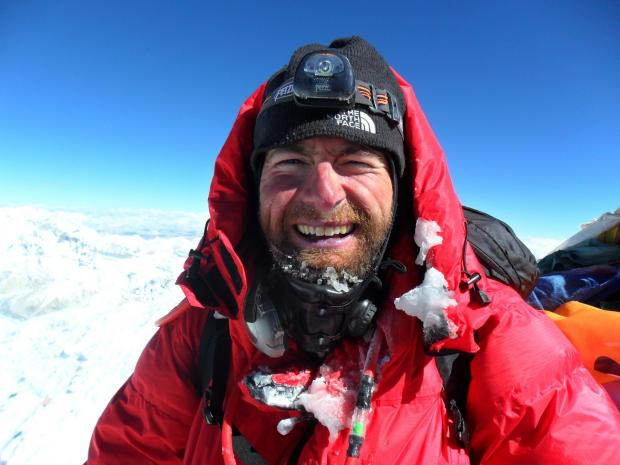 James Ketchell at the summit of Mount Everest