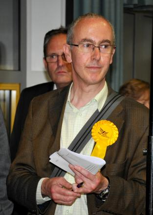 Liberal Democrats candidate John Shaw, who lost his Brookvale and Kings Furlong seat in the borough council election count