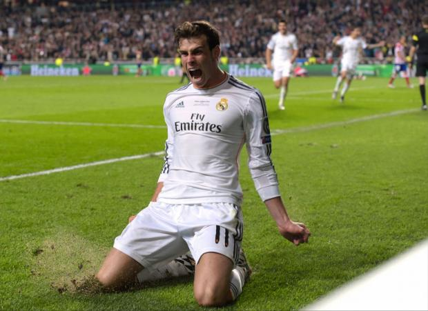 Basingstoke Gazette: Gareth Bale celebrates after scoring Real Madrid's crucial second goal