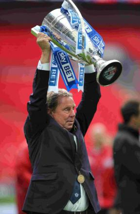 Harry Redknapp with the Championship play-off trophy