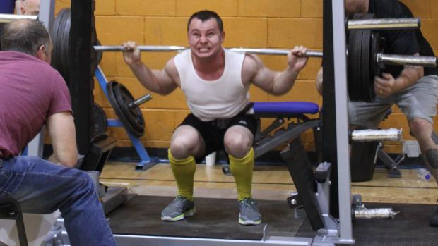 Basingstoke Gazette: Powerlifting was on the agenda at the Leisure Centre Expo