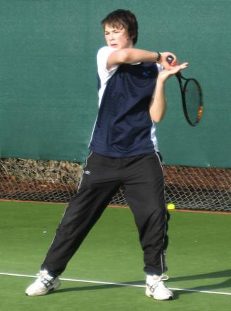 Hallam Doney was part of Andover Tennis Club's title winning squad