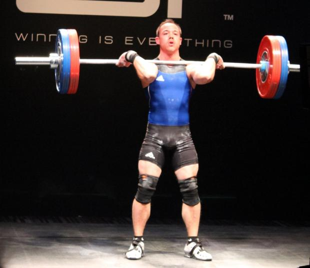 Ben Ross in weighlifting action