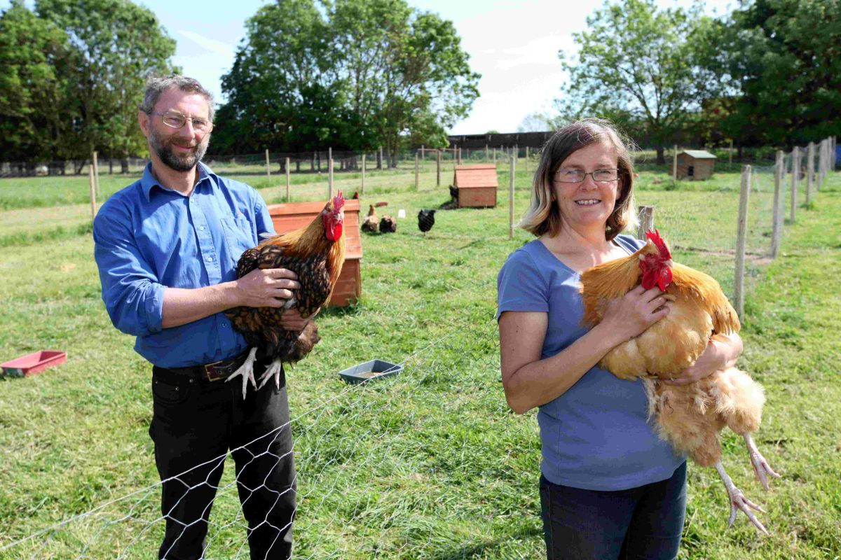 Trevor and Ruth Wyatt at Hare Farm