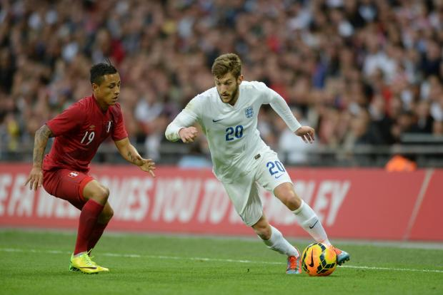 Adam Lallana in action against Peru (Photo: Robin Jones)