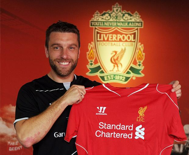 Basingstoke Gazette: Rickie Lambert is unveiled by Liverpool. Photo: Liverpool FC