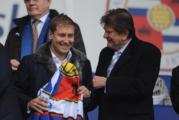 Anton Zingarevich and Sir John Madejski during happier times