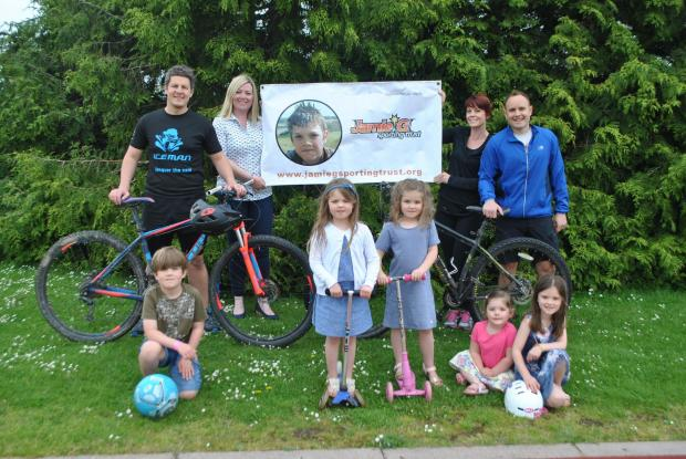 Two Andover cyclists will undertake a 100 mile off road trek for the Jamie G Trust