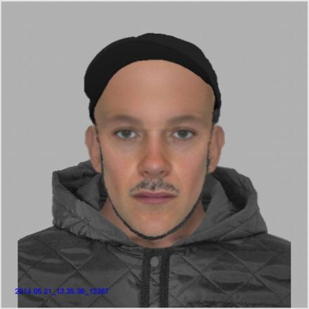 An efit image of the man police would like to speak to in connection with the assault in Brighton Hill