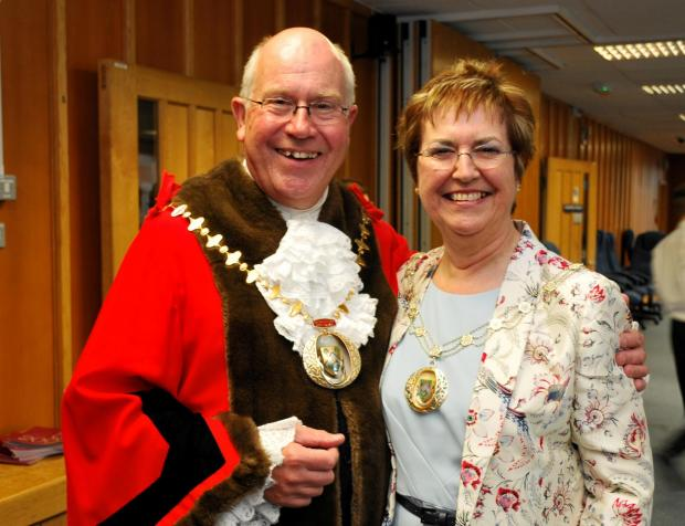 Basingstoke and Deane Mayor and Mayoress Cllr Roger Gardiner and his wife Tricia