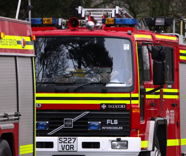 Arson attack on derelict stable block
