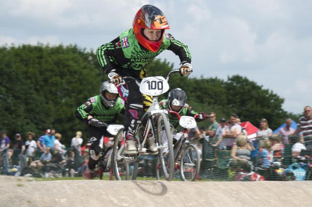 Action from the Andover BMX Club meeting at Charlton