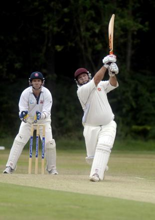 Keith Lovelock smashed his way to a half-century to see Hook through