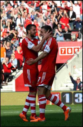 Jay Rodriguez, left, and Rickie Lambert